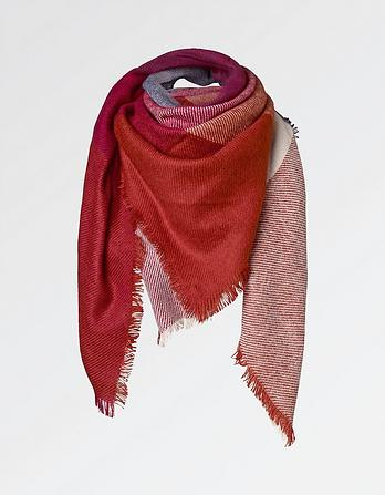 Thea Large Check Scarf