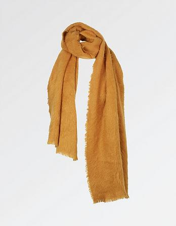 Poppy Brushed Plain Scarf