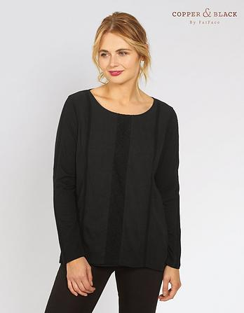Meredith Lace Panel Top