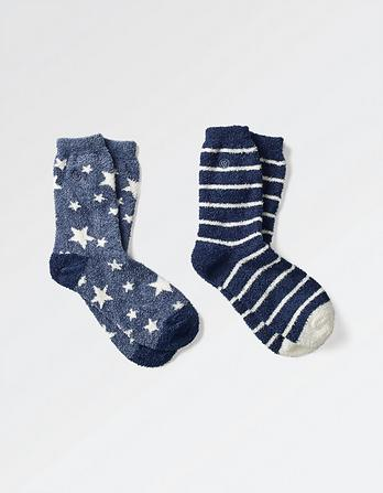 Two Pack Star Fluvia Socks