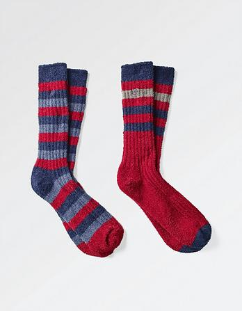 Two Pack Striped Mallory Socks