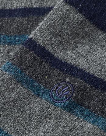 One Pack Merino Wool Stripe Socks