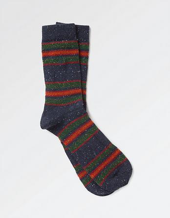 Multi Stripe Nep Socks
