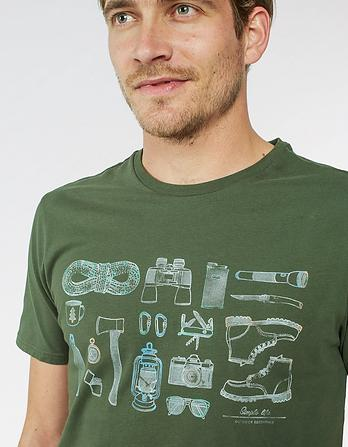 Outdoor Organic Cotton Graphic T-Shirt