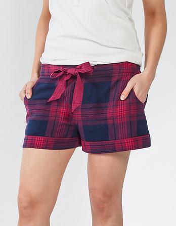 Festive Check Pajama Shorts