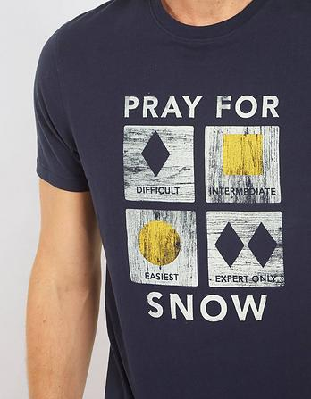 Pray For Snow Graphic T-Shirt
