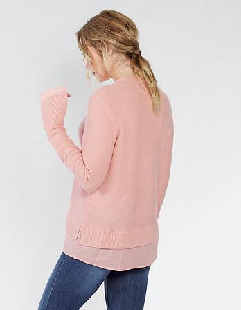 Sadie Woven Mix Sweater
