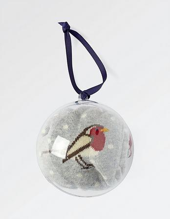 Robin Socks in a Bauble