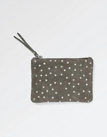 Suede Embossed Star Purse