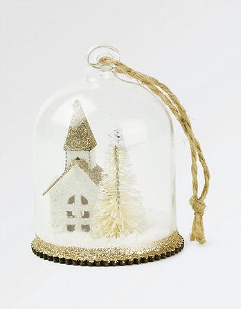 Little Church Christmas Tree Decoration
