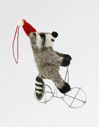Felt Raccoon Christmas Tree Decoration