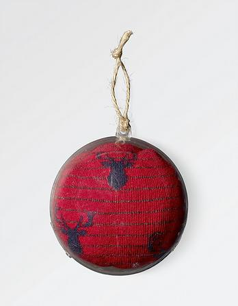 Stag Socks in a Bauble