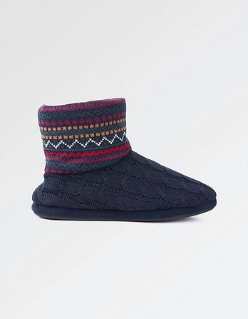 Freddie Fairisle Slipper Boots