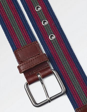 Finn Block Stripe Webbing Belt
