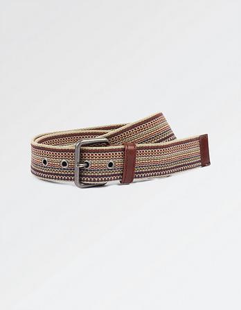 Austin Fine Stripe Webbing Belt