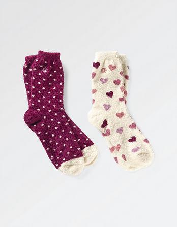 Two Pack Heart Fluvia Socks
