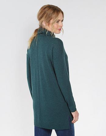 Poppy Longline Roll Neck Jumper