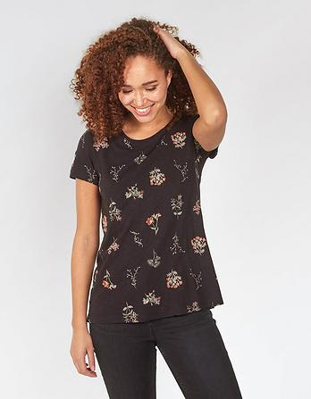 Wildflower Embroidered T-Shirt