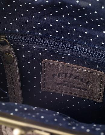 Suede Clip Frame Bag