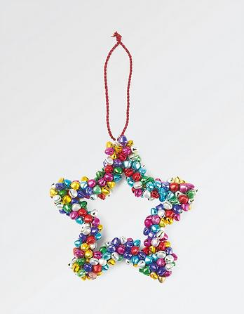 Multi Bell Star Christmas Tree Decoration