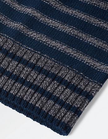 Merino Stripe Beanie