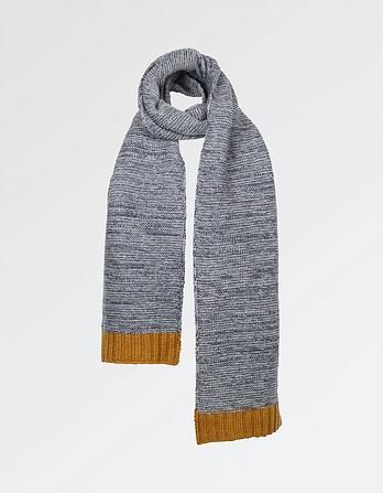 Knitted Contrast Scarf