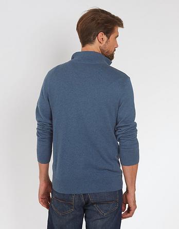 Cotton Cashmere Half Neck Sweater