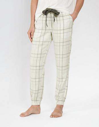 Frosted Check Cuffed Lounge Pants