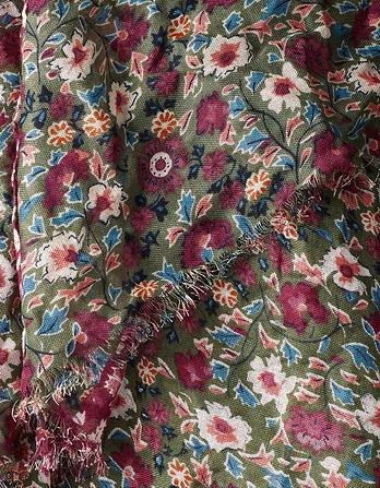 Meadow Floral Border Scarf