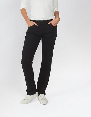 Garment Dye Straight Jeans
