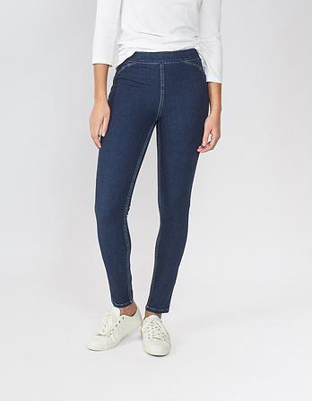 Dark Wash Pull-On Jeggings