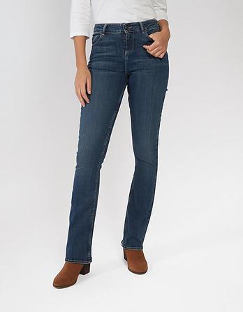 Vintage Wash Bootcut Jeans