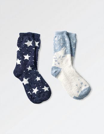 2pk Polar Bear Fluvia Socks