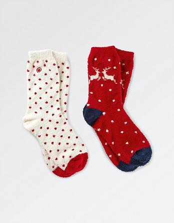 Two Pack Reindeer Fluvia Socks