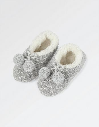 V Knit Cosy Ballerina Slippers