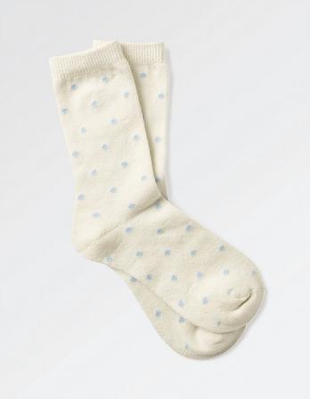 Spotted Cashmere Blend Socks
