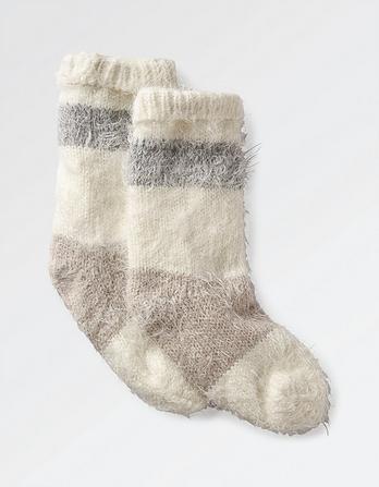 Soft Stripe Bed Socks