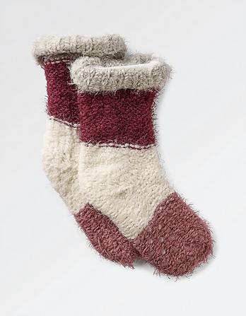 Soft Stripe Bed Socks
