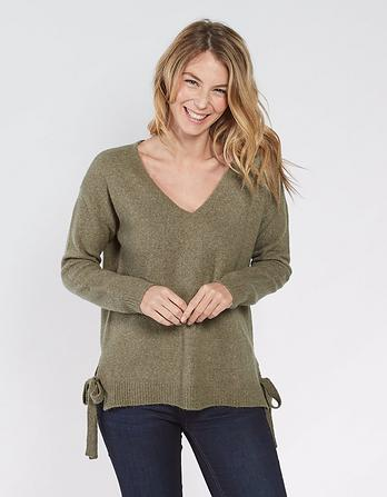 Sarah Tie Side Sweater