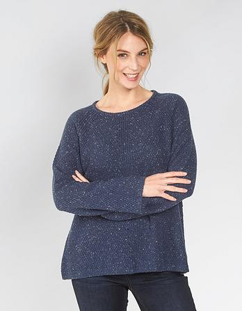 Frankie Fluted Sleeve Sweater