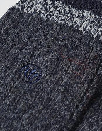 One Pack Twisted Wool Socks