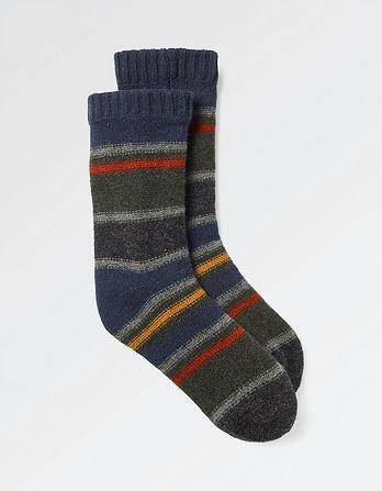 Stripe Bed Socks