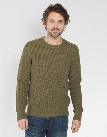 Harrison Waffle Crew Neck Sweater