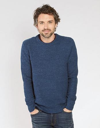 Amble Textured Crew Neck Jumper