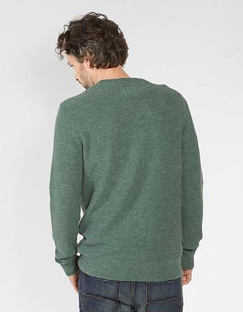 Amble Textured Crew Neck Sweater