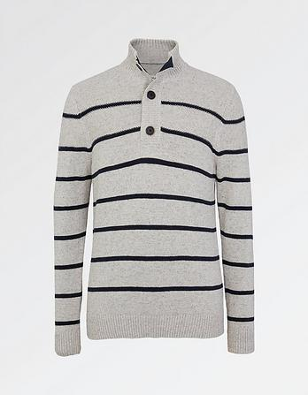 Amble Stripe Half Neck Jumper
