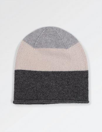 Cashmere Color Block Beanie