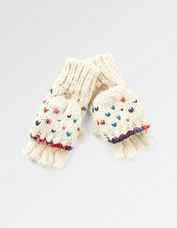 V-Knit Overflap Gloves