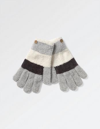 Chenille Stripe Gloves