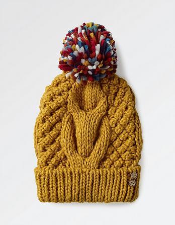 Rib Knit Pom Beanie